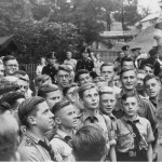 Picture shows: Members of Hitler Youth on a pilgrimage to Hitler's home, the Berghof